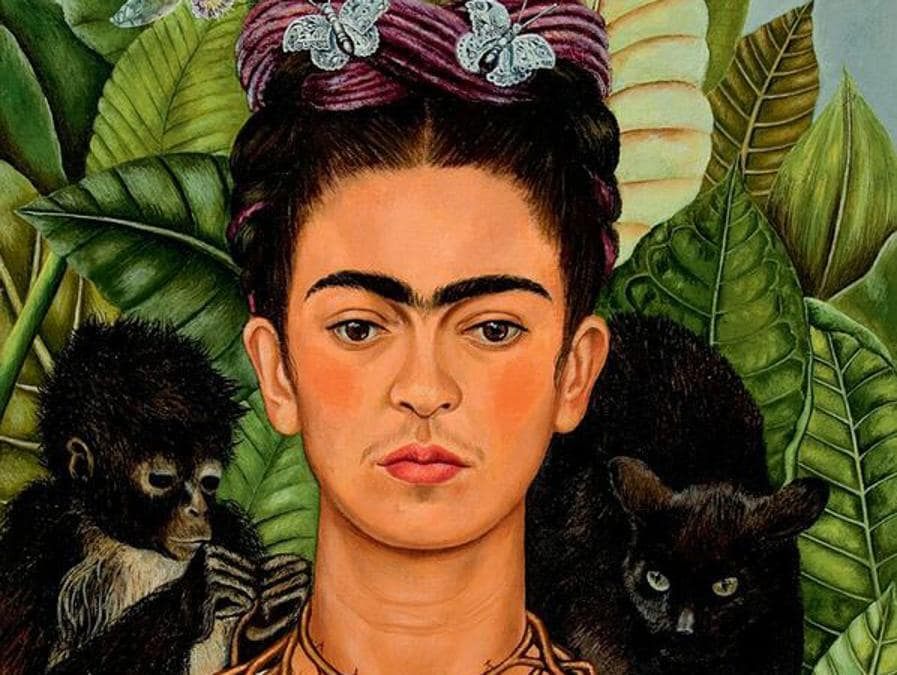 Autoritratto, 1940,  olio su alluminio (© Banco de México Diego Rivera Frida Kahlo Museums Trust, México, D.F. by SIAE 2018)