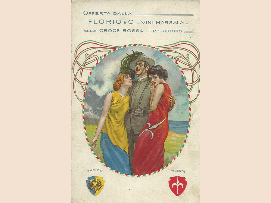 Cartolina patriottica, spedita nel 1916 (collezione privata)