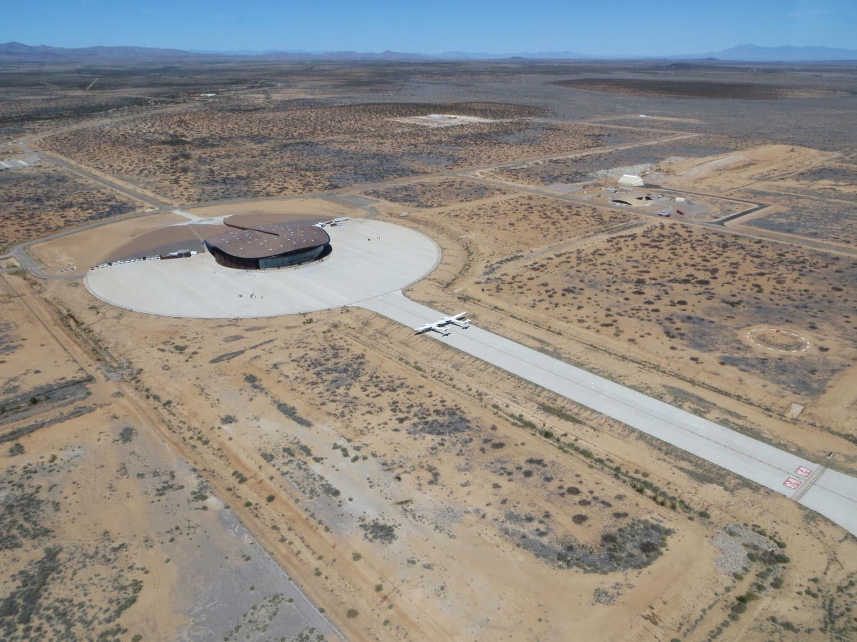 Vista aerea di Spaceport  America