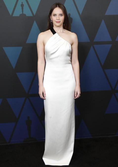 Felicity Jones in Miu Miu