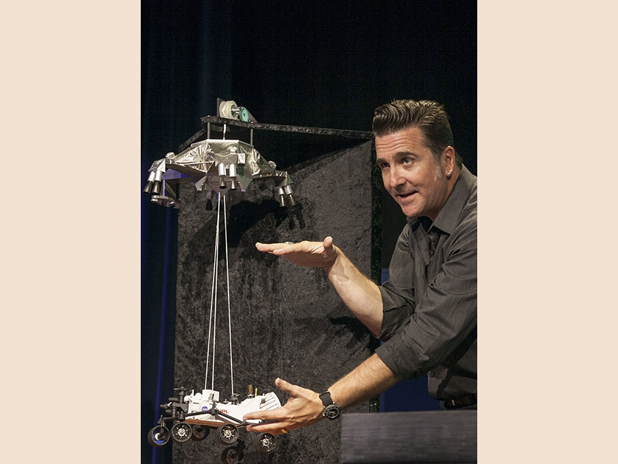 Adam Steltzner, Mars Science Laboratory. (AP Photo/Damian Dovarganes)