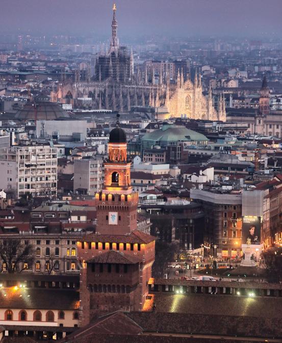 Veduta del Castello e del Duomo da Torre Branca