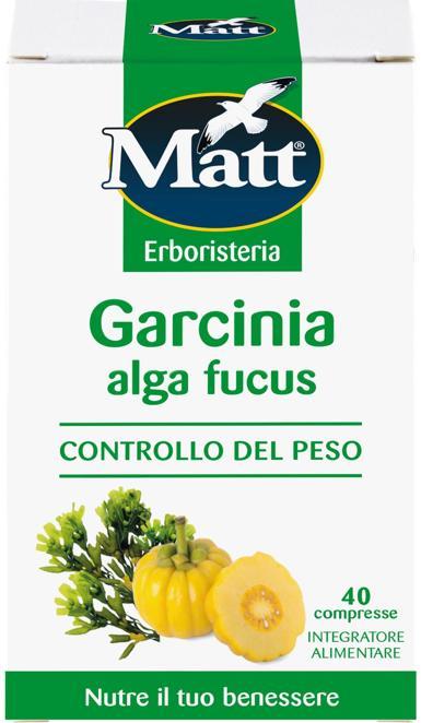 Garcinia Alga Fucus di Matt , le compresse mantengono inalterate tutte le caratteristiche dei principi vegetali utilizzati nelle diete per il controllo del peso. Sono sufficienti 2 compresse al giorno