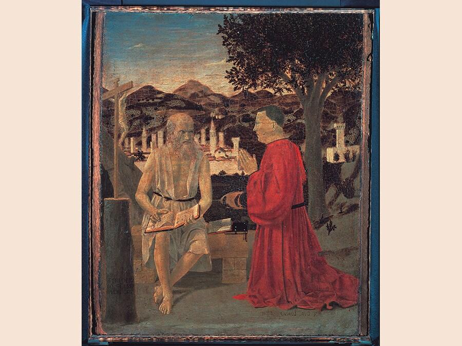 Piero della Francesca. San Girolamo e il devoto 1440 - 1450. Tempera su tavola 49x42 cm. Venezia, Gallerie dell'Accademia