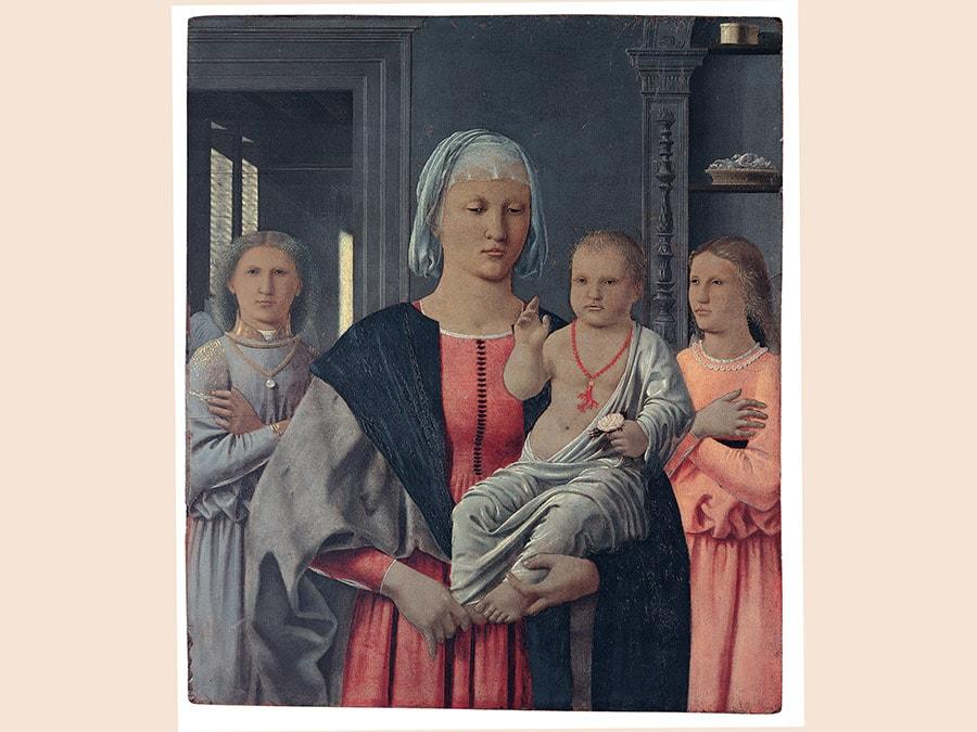 Piero della Francesca. La Madonna di Senigallia, 1470-1485. Olio e tempera su tavola, 61x53,5 cm. Urbino, Galleria Nazionale delle Marche