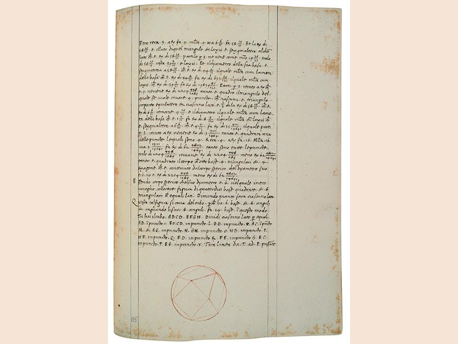 Piero della Francesca. Trattato d'Abaco, XV secolo (1493 circa), codice cartaceo, 291x213 mm. Firenze, Biblioteca Nazionale Centrale