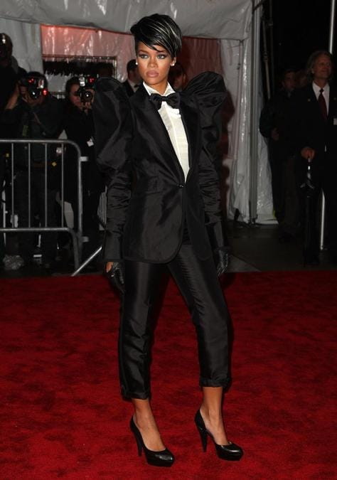 Rihanna al Gala al  Metropolitan Museum of Art, 2009 (Stephen Lovekin/Getty Images/AFP)