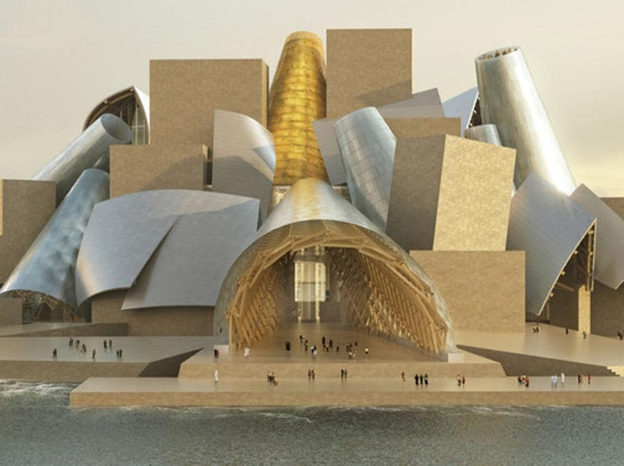 Guggenheim Abu Dhabi di Frank Gehry