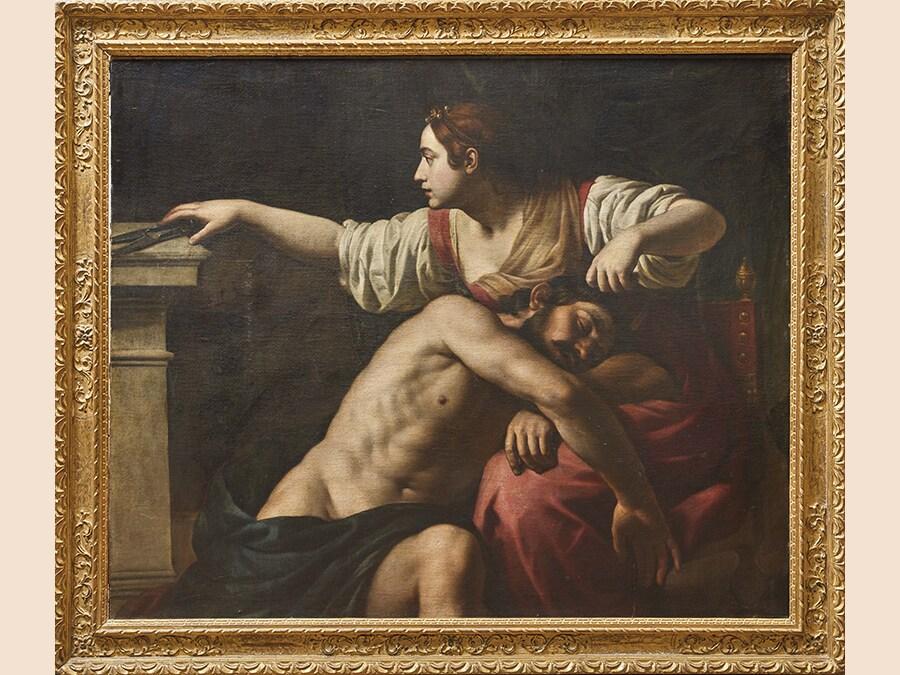 Alessandro Turchi, detto l'Orbetto. SANSONE E DALILA. Olio su tela; cm 132x158, lotto 18 - aggiudicato a 93.750 euro
