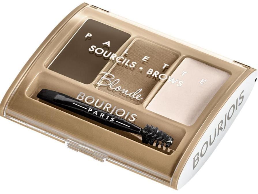 Palette Sourcils Brow di Bourjois, include una cera modellante, una polvere e un illuminante. Tre step per scolpire, definire e illuminare, disponibile in due tonalità per bionde e brune