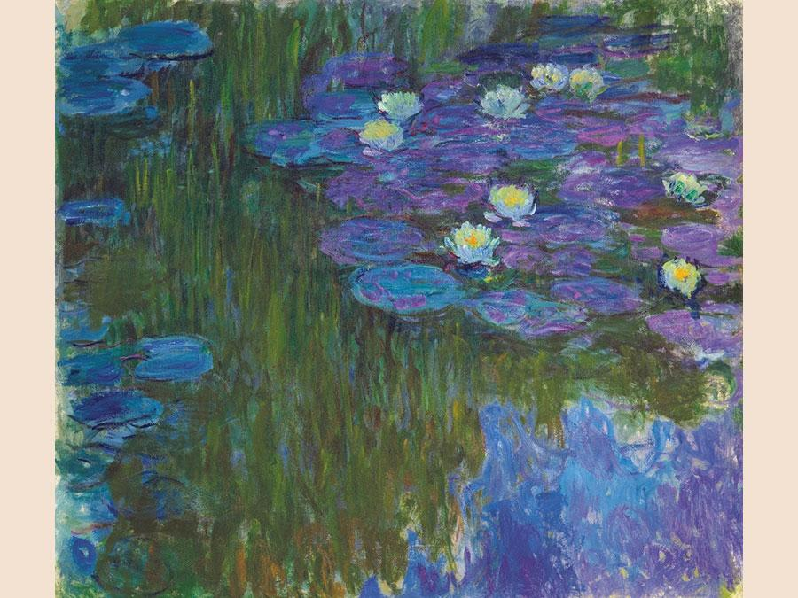 8 May 2018. The Collection of Peggy and David Rockefeller: 19th and 20th Century Art Evening Sale. New York. Claude Monet. Nymphéas en fleur, oil on canvas, circa 1914-17. Price realised: $84,687,500 / £62,407,885. WORLD AUCTION RECORD FOR THE ARTIST