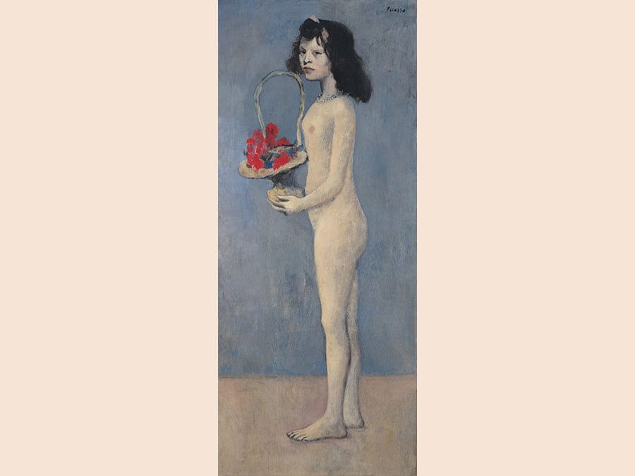 8 May 2018. The Collection of Peggy and David Rockefeller: 19th and 20th Century Art Evening Sale. New York. Pablo Picasso. Fillette à la corbeille fleurie. oil on canvas, painted in 1905. Price realised: $115,000,000 / £84,745,763