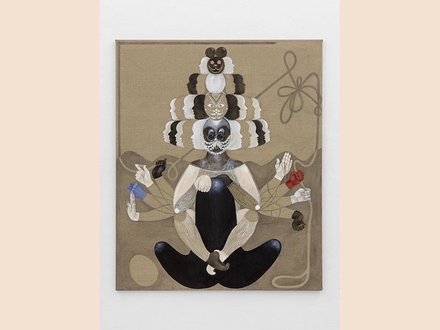 STEFANIE POPP - Perpetual Overblues (Il mio canto libero), 2016 - oil on canvas - 115 x 95 cm - Courtesy of the Artist and Norma Mangione Gallery - Prezzo: € 5200 + IVA