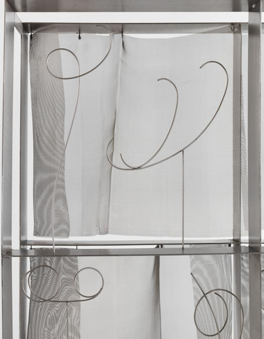 Fausto Melotti - Contrappunto XII - (Counterpoint XII), 1975 - Stainless steel - Ed. ⅓ - 100 x 100 x 30 cm