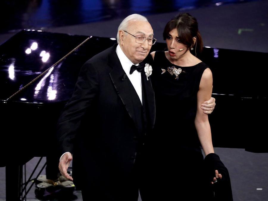 Virginia Raffaele con Pippo Baudo (Italy Photo Press)