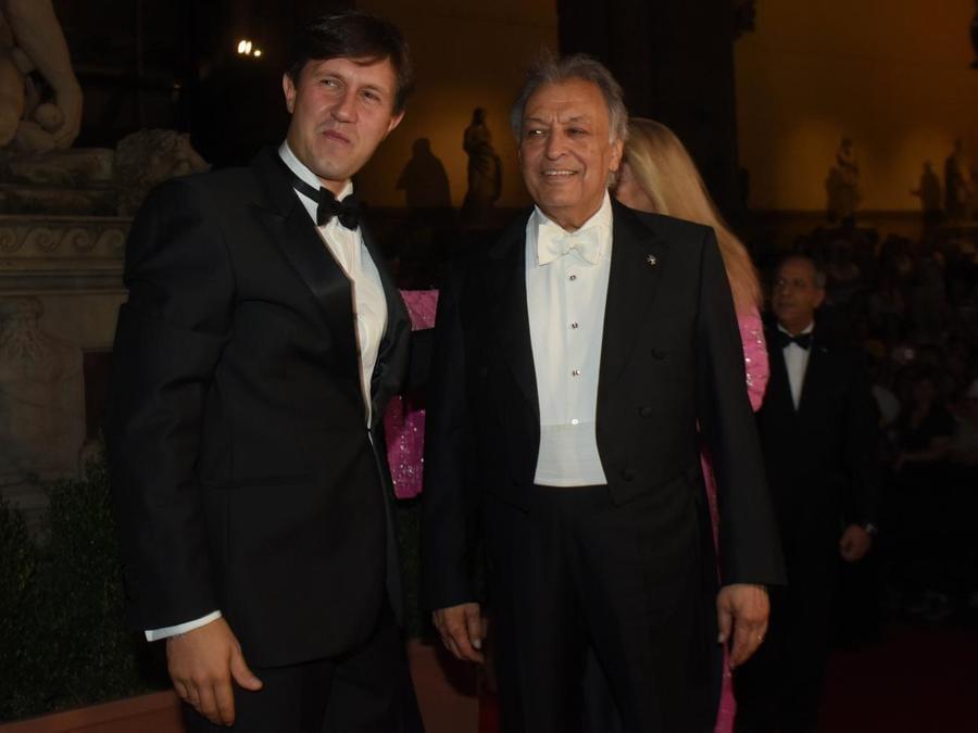 Il direttore d'orchestra Zubin Mehta con il sindaco Dario Nardella 8Agf)
