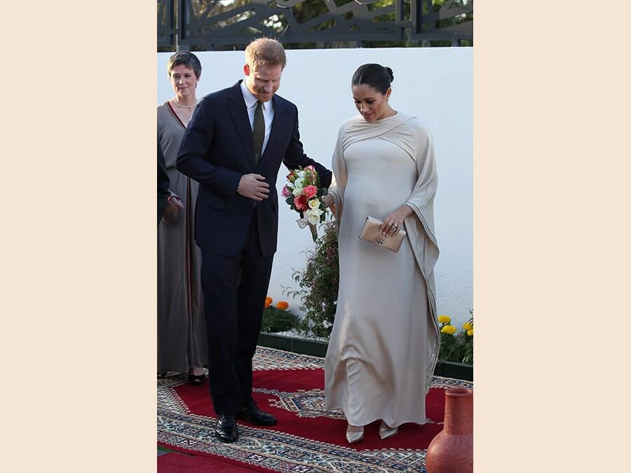 Ancora in Marocco con un abito Dior (Yui Mok/Pool via Reuters)