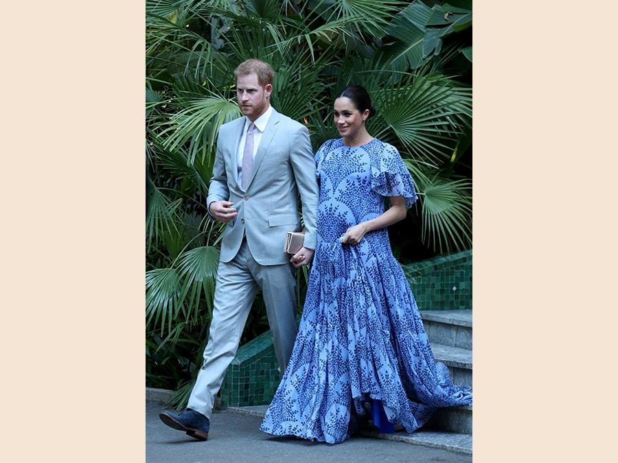 In Carolina Herrera in visita al palazzo del re del Marocco (Yui Mok/Pool via Reuters)