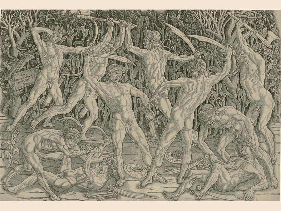 Antonio Pollaiuolo, Battle of the Nudes