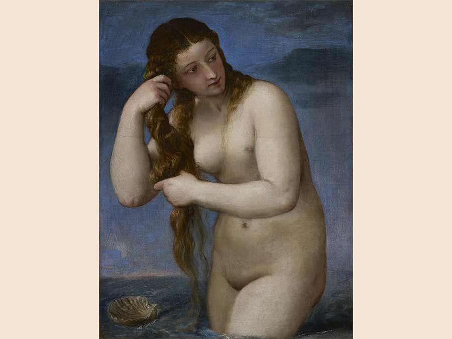Titian, Venus Rising from the Sea (Venus Anadyomene)