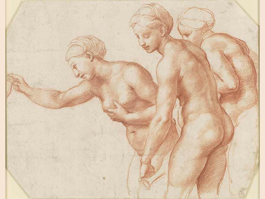 Raphael, The Three Graces (Royal Collection Trust/© Her Majesty Queen Elizabeth II 2019)