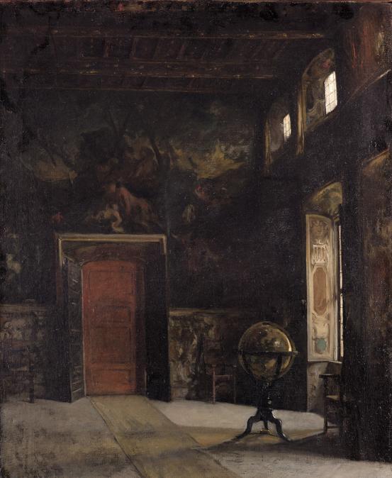 Gioacchino Banfi (1851-1885). Sala del Palazzo Verri a Milano, 1870, Olio su tela, cm 105 × 80,5 Milano, Galleria d'Arte Moderna (photo © Mauro Ranzani)