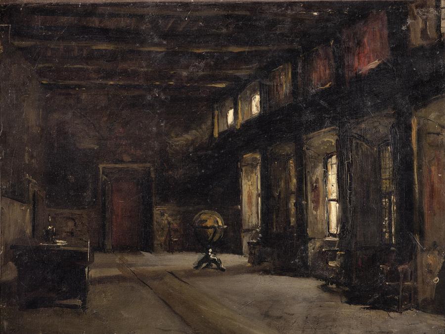 Gioacchino Banfi (1851-1885), Sala del Palazzo Verri a Milano, 1870, olio su tela, cm 33 × 41,5, Milano, Galleria d'Arte Moderna (in deposito a Palazzo Sormani, sala dei Putti) (photo © Mauro Ranzani)