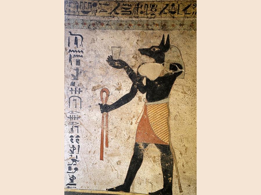 Dipinti conservati all'interno del sito di sepoltura appena scoperto, la Tomba di  Tutu, ad al-Dayabat, Sohag, in Egitto (Reuters/Mohamed Abd El Ghany)