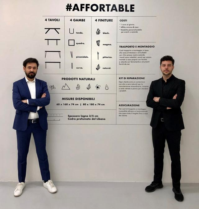 #AfforTable, Dario Brivio e Francesco Cazzaniga, studio Apeiron