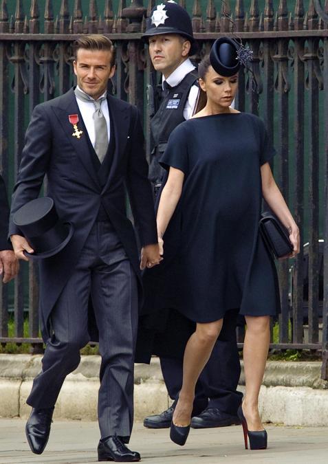 David Beckham con la moglie  Victoria al matrimonio William e Kate. (Afp)