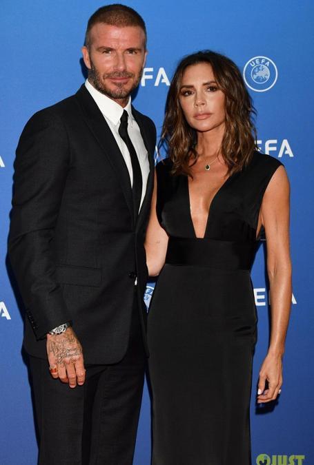 David e Victoria Beckham a un evento Uefa