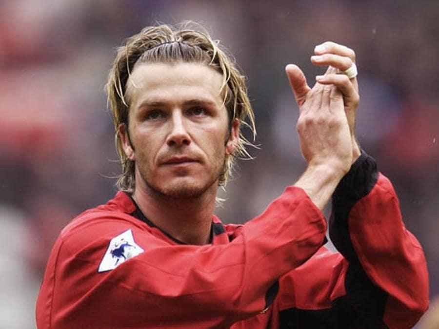 David Beckham con la maglia Manchester United