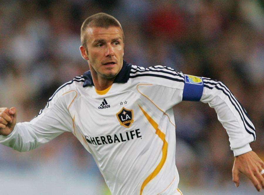 David Beckham con la maglia del Los Angeles Galaxy