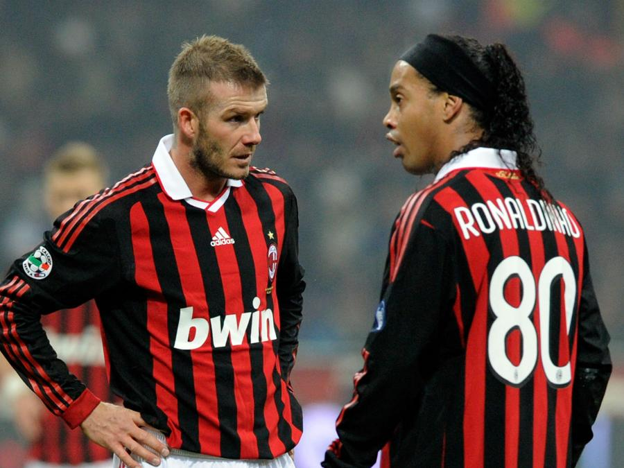 David Beckham con la maglia del  Milan