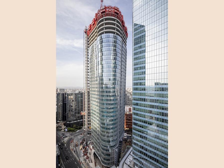 A Parigi, le facciate di Tour Alto di Permasteelisa per Linkcity Idf, pronto nel 2020