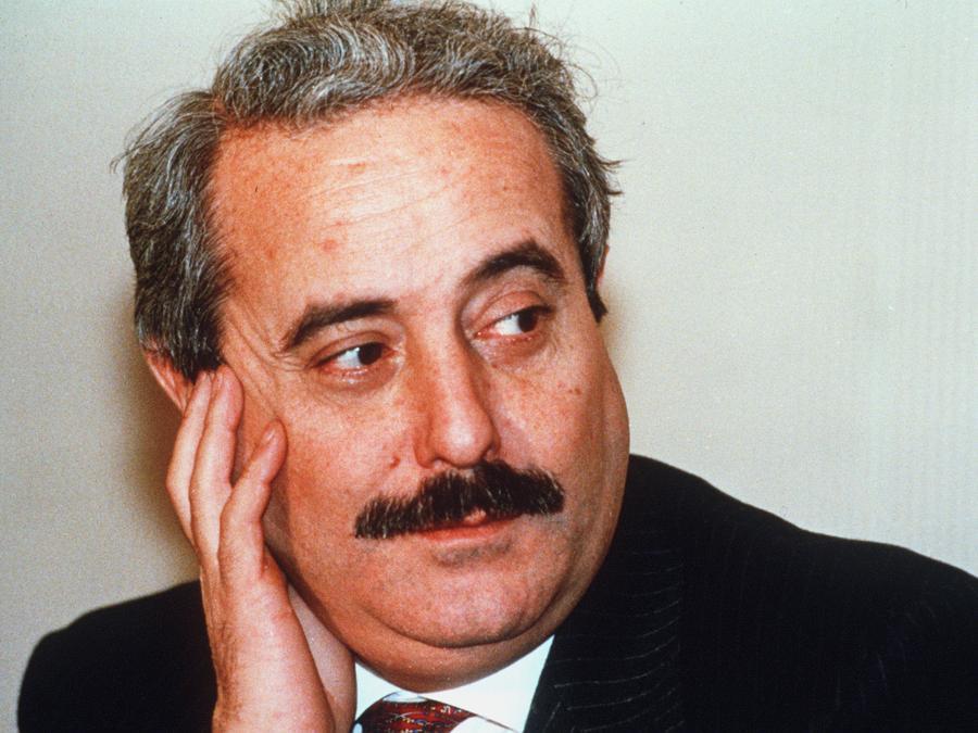 2008 -   Un'immagine d'archivio di Giovanni Falcone. (ANSA/DC)