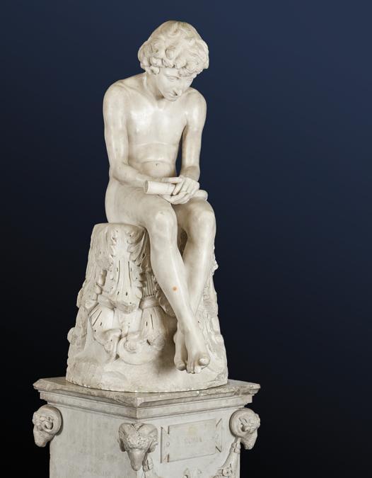 """Boetto, una scultura in marmo """"Pastor Fido"""" (The Scheppard), firmata alla base """"Lousie Lawson 1887"""", realizzo 86.800 euro"""