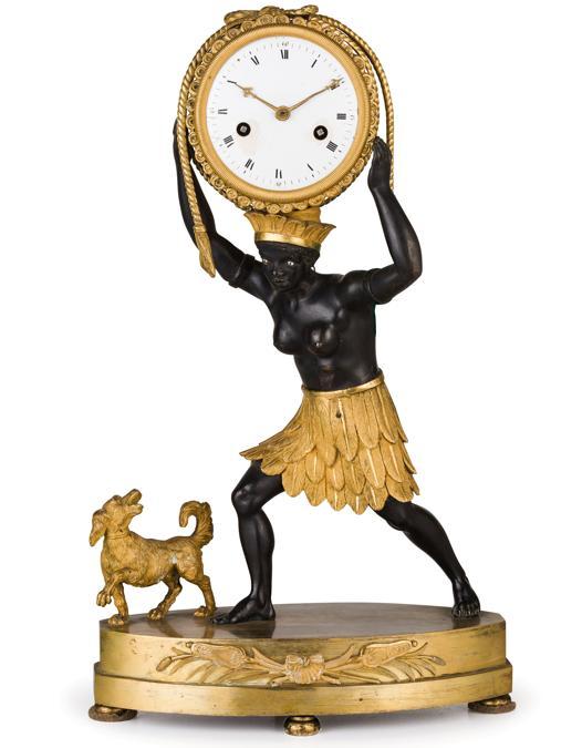 Wannenes, una pendola da tavolo in bronzo dorato con figura di moretto della prima metà del secolo XIX venduta a 12.600 euro