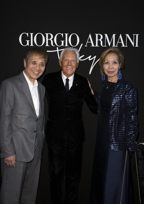 Giorgio Armani, Tadao Ando e Yumiko (credit SGP)