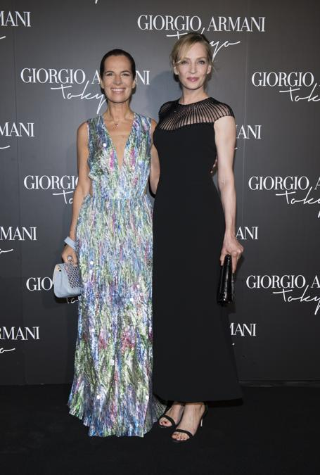 Roberta Armani con Uma Thurman (credit SGP)
