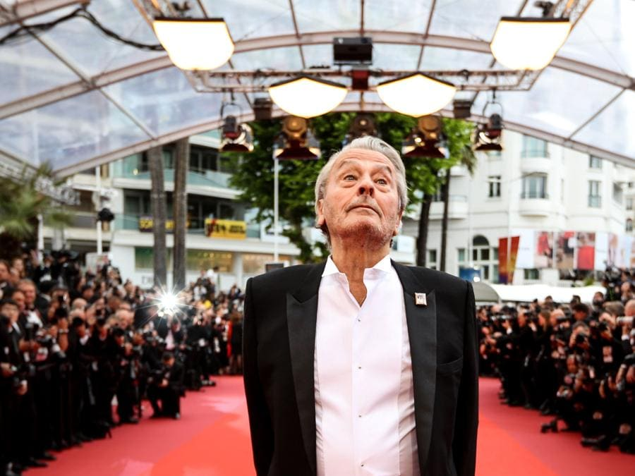 Alain Delon a Cannes . (Photo by Valery HACHE / AFP)
