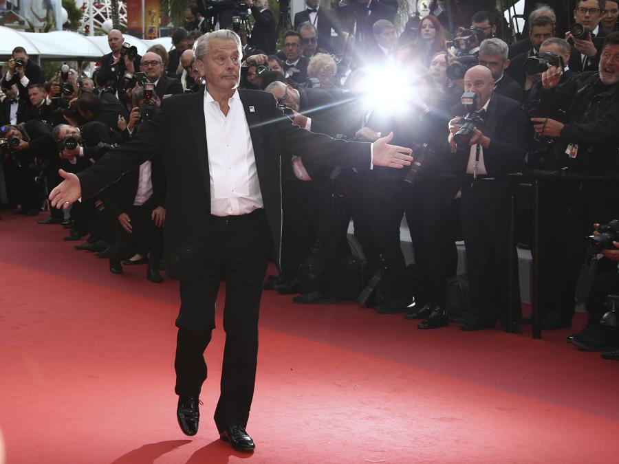 Alain Delon a Cannes . (Photo by Joel C Ryan/Invision/AP)