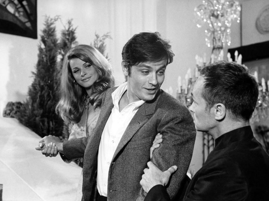 «Diabolicamente tua» del 1968, di Julien Duvivier, con Alain Delon, Senta Berger e Peter Mosbacher. (COLLECTION CHRISTOPHEL © Comacico / Eichberg Film / Igor Film)