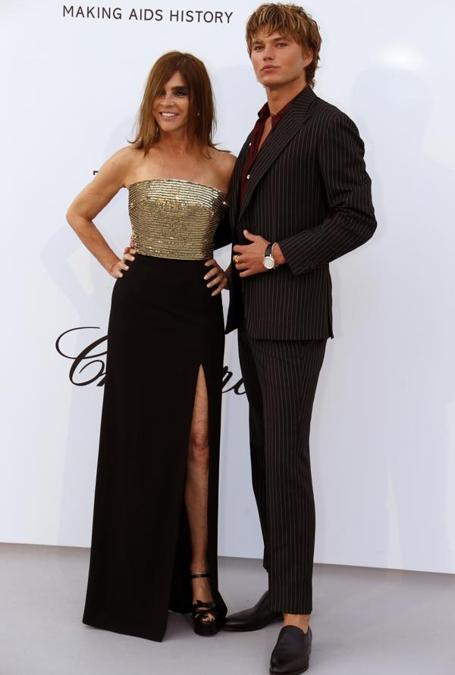 Carine Roitfeld e Jordan Barrett