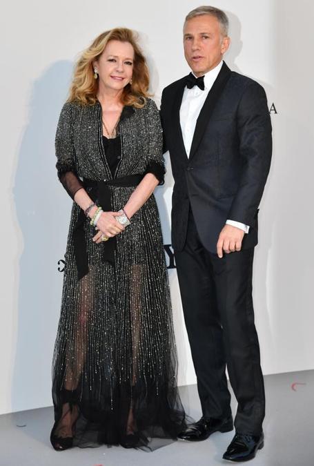 Caroline Scheufele e Christoph Waltz