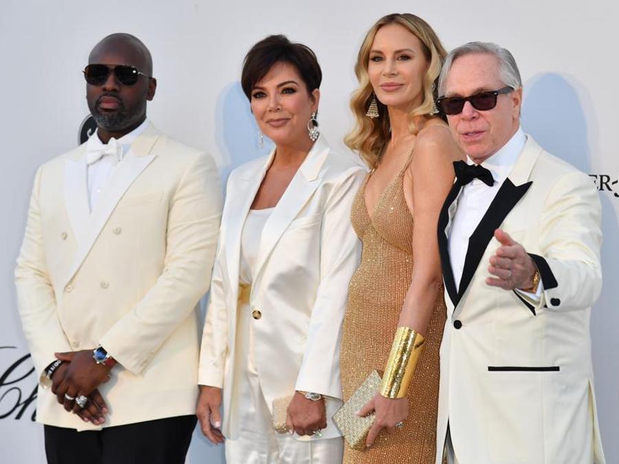 Kris Jenner, Corey Gamble, Tommy Hilfiger e la moglie  Dee