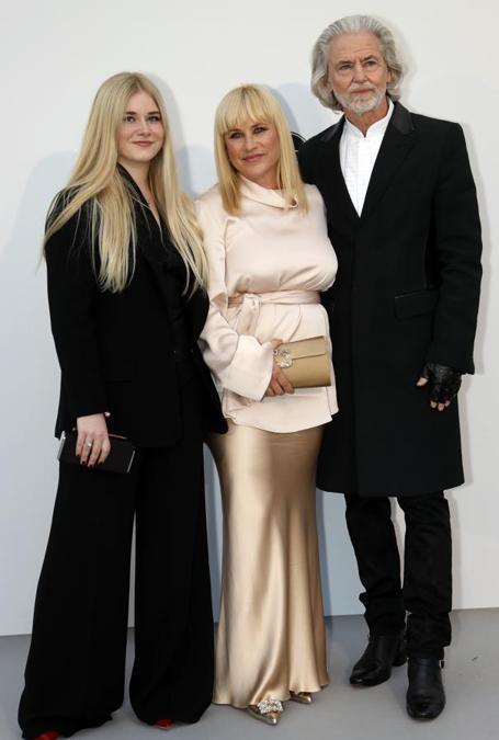 Patricia Arquette con la figlia Harlow Olivia Calliope Jane e Hermann Buehlbecker