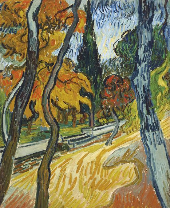 Vincent van Gogh (1853-1890), Arbres dans le jardin de l'asile, oil on canvas, painted circa October 1889