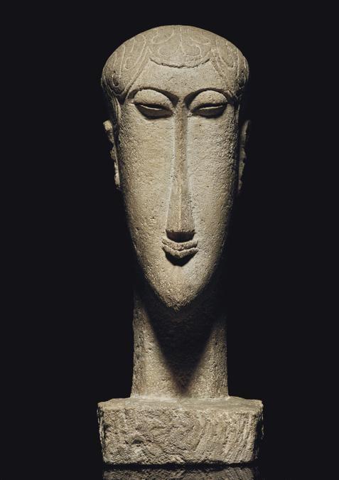Amedeo Modigliani (1884-1920), Tête, limestone, carved circa 1911-1912
