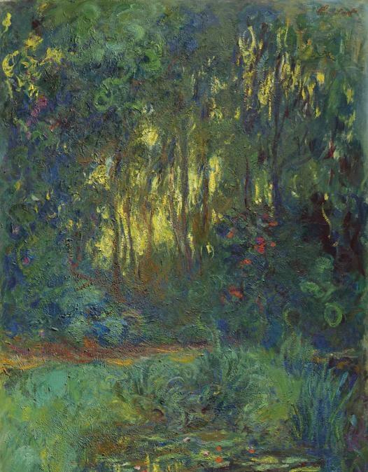 Claude Monet (1840-1926), Coin du basin aux nymphéas, oil on canvas, painted circa 1918-1919